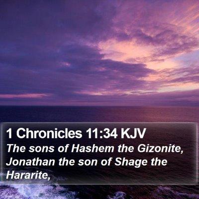 1 Chronicles 11:34 KJV Bible Verse Image
