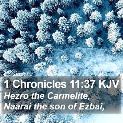 1 Chronicles 11:37 KJV Bible Verse Image