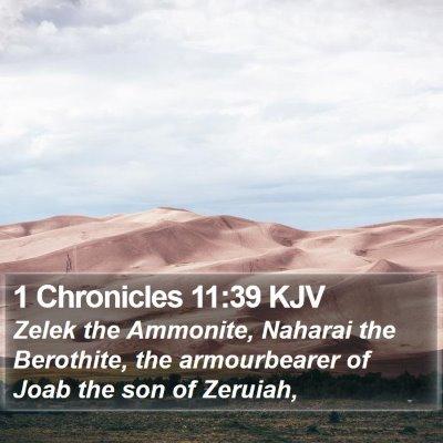 1 Chronicles 11:39 KJV Bible Verse Image