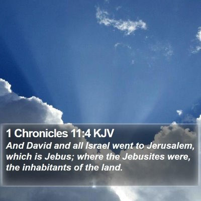1 Chronicles 11:4 KJV Bible Verse Image