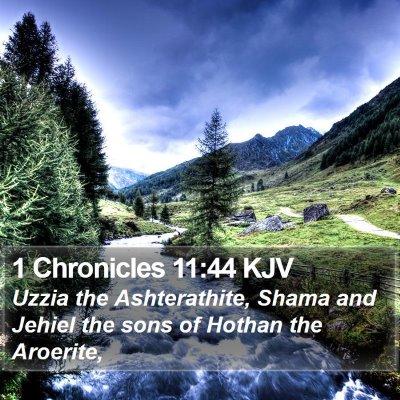 1 Chronicles 11:44 KJV Bible Verse Image