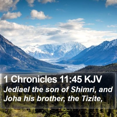 1 Chronicles 11:45 KJV Bible Verse Image