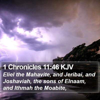 1 Chronicles 11:46 KJV Bible Verse Image
