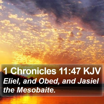 1 Chronicles 11:47 KJV Bible Verse Image