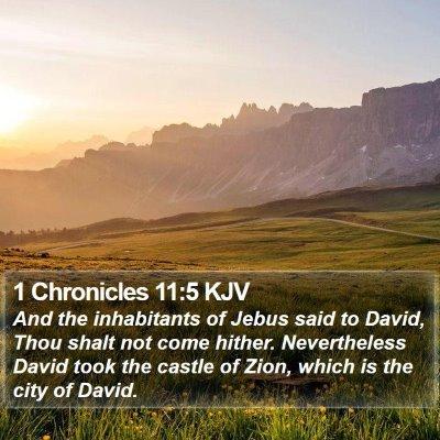 1 Chronicles 11:5 KJV Bible Verse Image