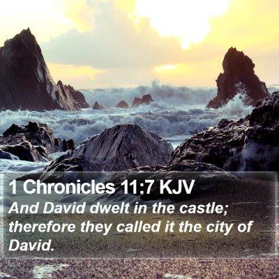 1 Chronicles 11:7 KJV Bible Verse Image