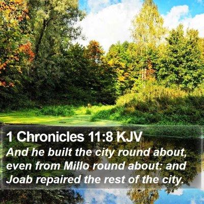 1 Chronicles 11:8 KJV Bible Verse Image