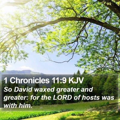 1 Chronicles 11:9 KJV Bible Verse Image