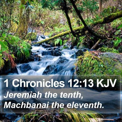1 Chronicles 12:13 KJV Bible Verse Image