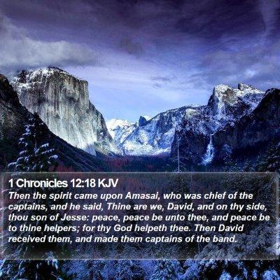 1 Chronicles 12:18 KJV Bible Verse Image