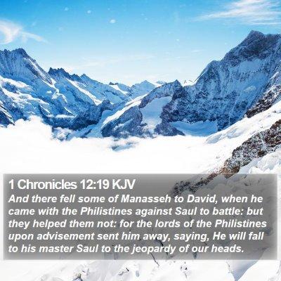 1 Chronicles 12:19 KJV Bible Verse Image