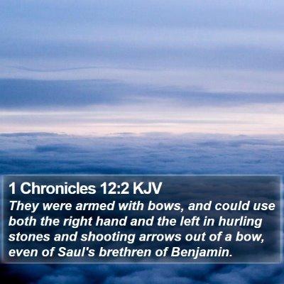 1 Chronicles 12:2 KJV Bible Verse Image