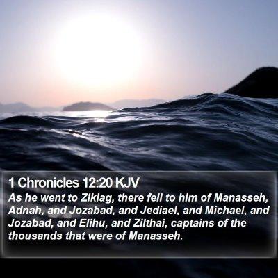 1 Chronicles 12:20 KJV Bible Verse Image