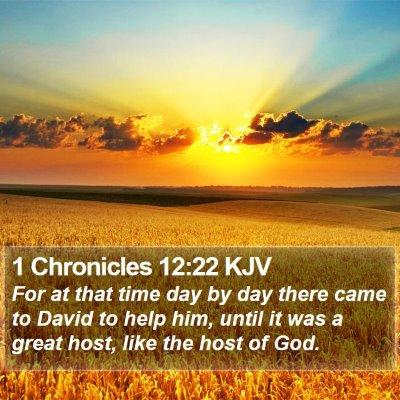 1 Chronicles 12:22 KJV Bible Verse Image