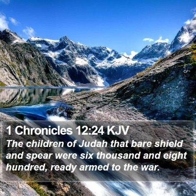 1 Chronicles 12:24 KJV Bible Verse Image