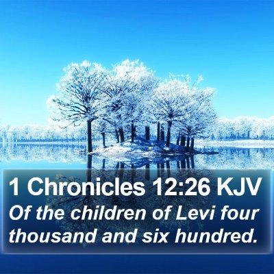 1 Chronicles 12:26 KJV Bible Verse Image