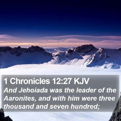 1 Chronicles 12:27 KJV Bible Verse Image