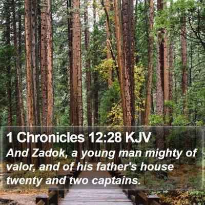 1 Chronicles 12:28 KJV Bible Verse Image