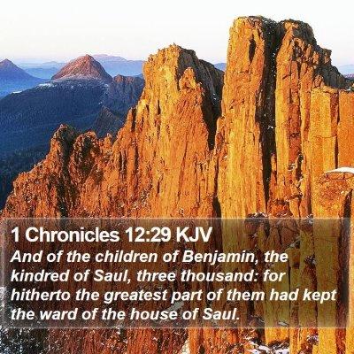 1 Chronicles 12:29 KJV Bible Verse Image