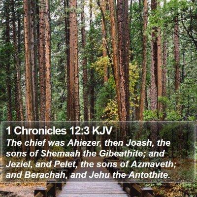 1 Chronicles 12:3 KJV Bible Verse Image