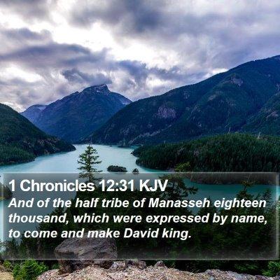 1 Chronicles 12:31 KJV Bible Verse Image