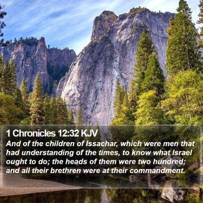 1 Chronicles 12:32 KJV Bible Verse Image