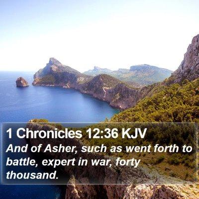 1 Chronicles 12:36 KJV Bible Verse Image