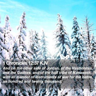 1 Chronicles 12:37 KJV Bible Verse Image