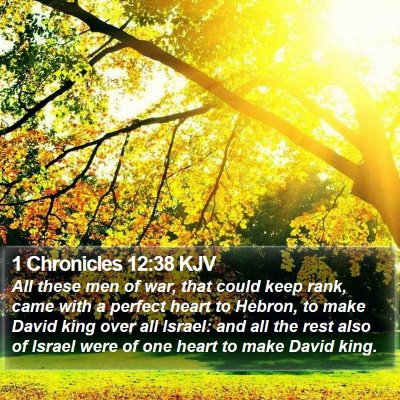 1 Chronicles 12:38 KJV Bible Verse Image