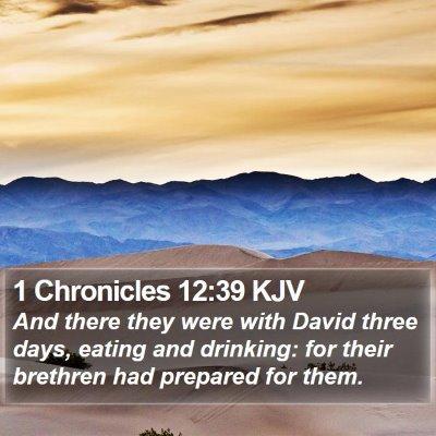 1 Chronicles 12:39 KJV Bible Verse Image
