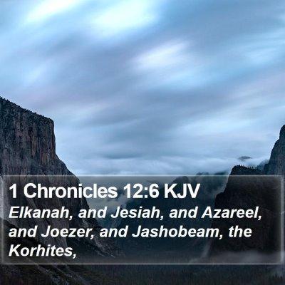 1 Chronicles 12:6 KJV Bible Verse Image