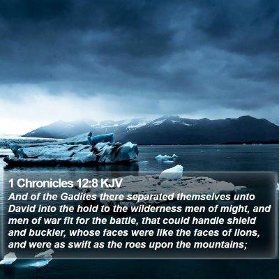 1 Chronicles 12:8 KJV Bible Verse Image