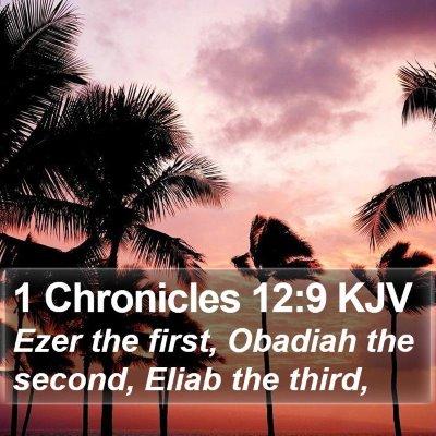 1 Chronicles 12:9 KJV Bible Verse Image