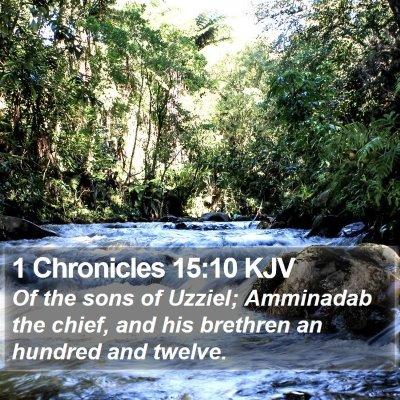 1 Chronicles 15:10 KJV Bible Verse Image