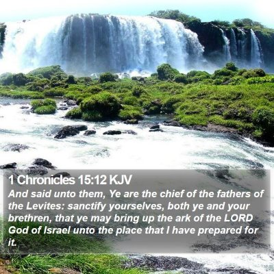 1 Chronicles 15:12 KJV Bible Verse Image