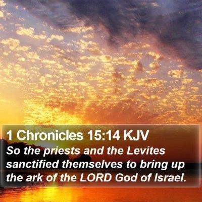 1 Chronicles 15:14 KJV Bible Verse Image