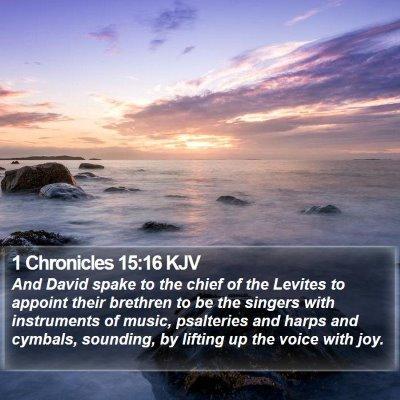 1 Chronicles 15:16 KJV Bible Verse Image