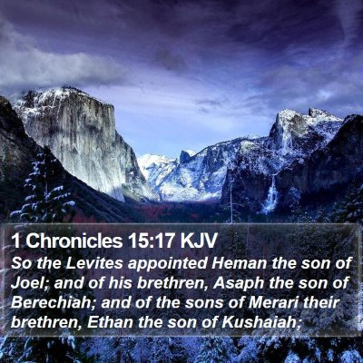 1 Chronicles 15:17 KJV Bible Verse Image