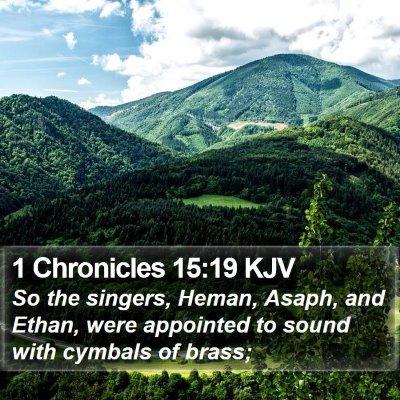 1 Chronicles 15:19 KJV Bible Verse Image