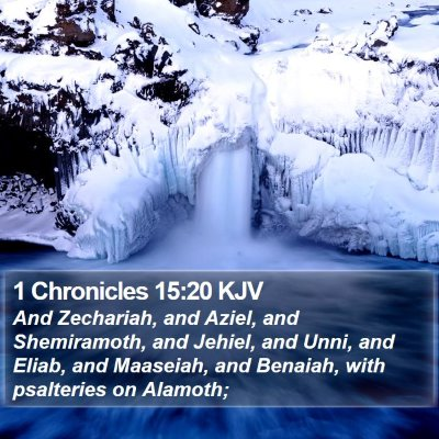 1 Chronicles 15:20 KJV Bible Verse Image