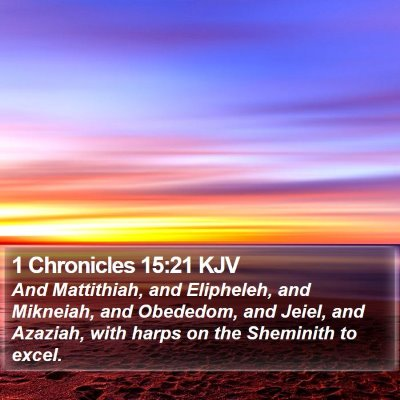 1 Chronicles 15:21 KJV Bible Verse Image