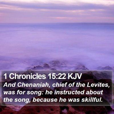 1 Chronicles 15:22 KJV Bible Verse Image