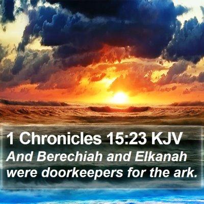 1 Chronicles 15:23 KJV Bible Verse Image