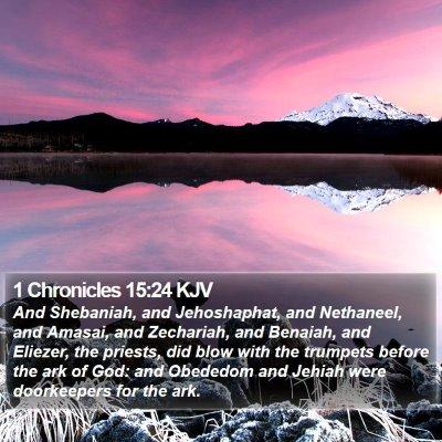 1 Chronicles 15:24 KJV Bible Verse Image