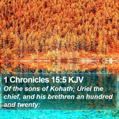 1 Chronicles 15:5 KJV Bible Verse Image