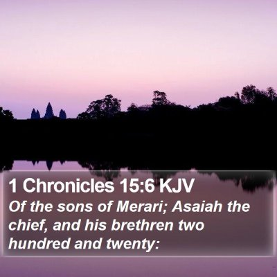 1 Chronicles 15:6 KJV Bible Verse Image