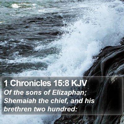 1 Chronicles 15:8 KJV Bible Verse Image