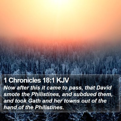 1 Chronicles 18:1 KJV Bible Verse Image