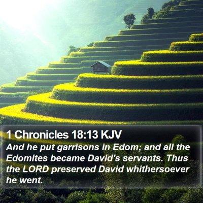 1 Chronicles 18:13 KJV Bible Verse Image