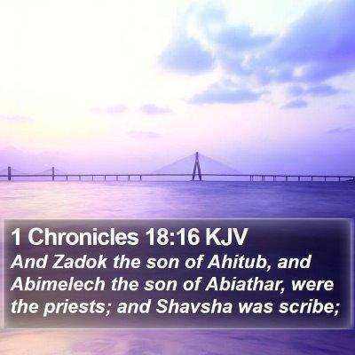 1 Chronicles 18:16 KJV Bible Verse Image